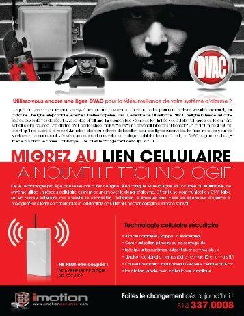 Migrer au lien cellulaire pour système d'alarme - iMotion Sécurité