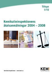Tillsyn 1/10 Kemikalieinspektionens åtalsanmälningar 2004 – 2008