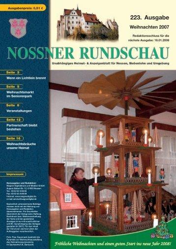 Weihnachten 2007 - Nossner Rundschau