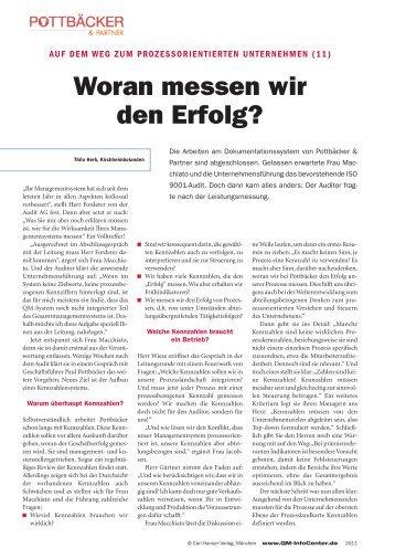 Woran messen wir den Erfolg? - QZ-online.de