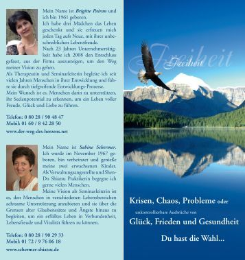 Krisen, Chaos, Probleme oder - Sabine Schermer - Shiatsu