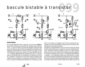 Bistable magazines for Bascule transistor