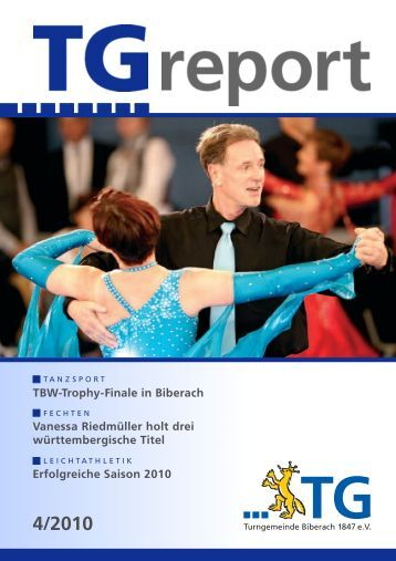 Erfolgreiche Saison 2010 Vanessa Riedmüller holt drei - TG Biberach