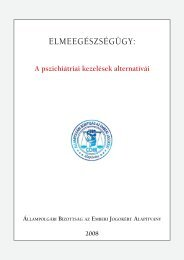 A pszichiátriai kezelések alternatívái - Állampolgári Bizottság az ...