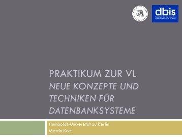 Praktikum-Foliensatz-01 - dbis - Humboldt-Universität zu Berlin