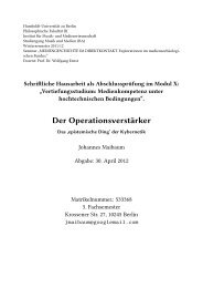 Der Operationsverstärker - Medienwissenschaft