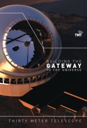 TMT General Information Brochure - Thirty Meter Telescope