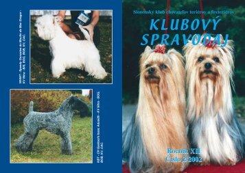 Spravodaj 2/2002 - Slovenský klub chovateľov teriérov a foxteriérov