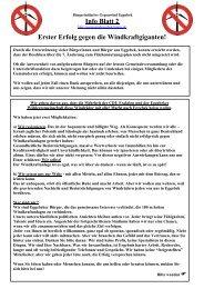 Info Blatt 2 Erster Erfolg gegen die Windkraftgiganten!