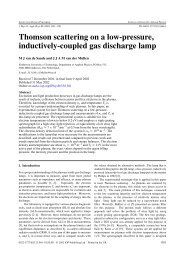 Thomson scattering on a low-pressure, inductively-coupled gas ...