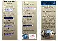 Plaquette de présentation du SDS - Maison des Sciences de l ...