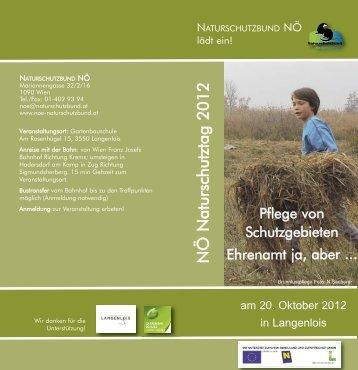 Programm NÖ Naturschutztag 2012 - Umwelt-Gemeinde-Service