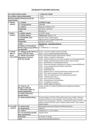 KESKKONNAKOMPLEKSLUBA - IPPC - Keskkonnaministeerium