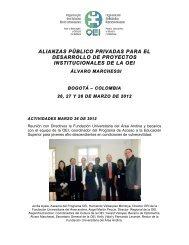 alianzas público privadas para el desarrollo de proyectos ... - OEI