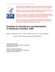 Guideline for Disinfection and Sterilization in Healthcare ... - Aaalac
