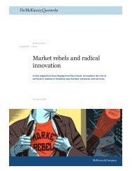 Market rebels and radical innovation - Philadelphia University Jordan