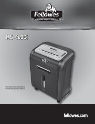 MS-460Ci Manual - Fellowes Shredder