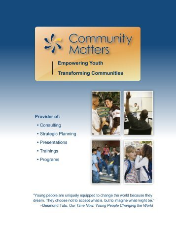 Cornerstone Brochure12 - Community Matters