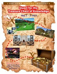 Quest for the Treasure of Knowledge Quest for the Treasure ... - CSHE
