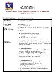 FICHE DE POSTE VILLE DE CHENOVE Agent d'accueil et ...