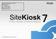 SiteKiosk - WES EBERT SYSTEME ELECTRONIC GmbH