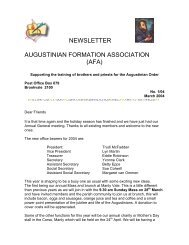 newsletter augustinian formation association - The Augustinians in ...