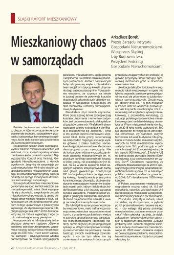 Mieszkaniowy chaos w samorządach - śląska izba budownictwa