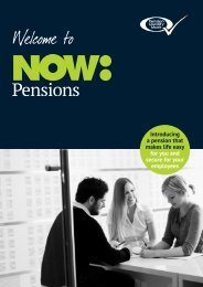 Employer Leaflet - NOW: Pensions