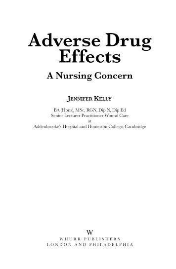 Adverse Drug Effects: A Nursing Concern