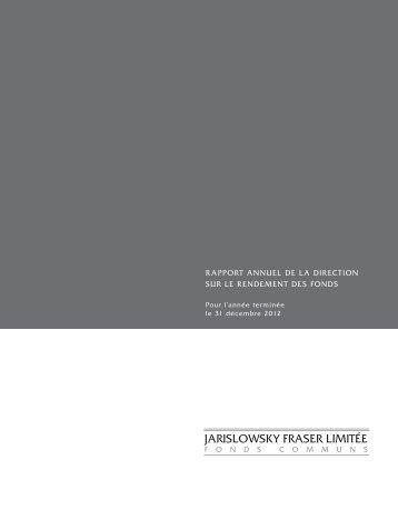Decembre 2012 - Jarislowsky, Fraser Limited