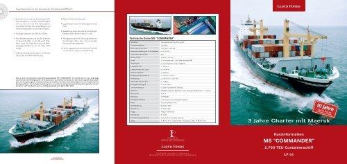 3 Jahre Charter mit Maersk - WMD Brokerchannel