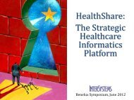 THE KEYS TO BREAKTHROUGH HEALTHCARE - InterSystems ...