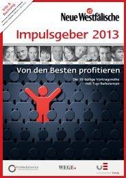 Impulsgeber 2013 - Unternehmen Erfolg