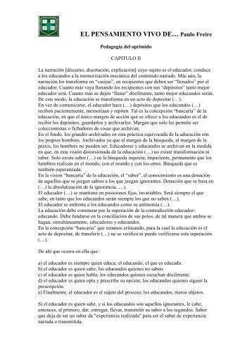 EL PENSAMIENTO VIVO DE… Paulo Freire