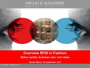 Overview RFID in Fashion Status update, business case, next ... - vLm
