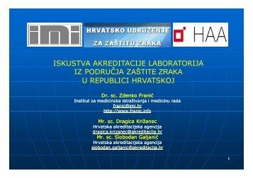 iskustva akreditacije laboratorija iz područja zaštite zraka u republici ...