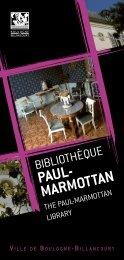 PAUL- MARMOTTAN - Boulogne - Billancourt