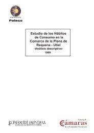Estudio de los hábitos de Consumo en la Comarca de la Plana de ...