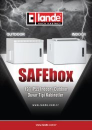 "19"" SAFEbox IP55 Duvar tipi Kabinetler Pdf Görüntüle - LANDE"