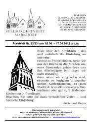 Pfarrblatt Nr. 22/23 vom 02.06. – 17.06.2012 (€ 0,30)