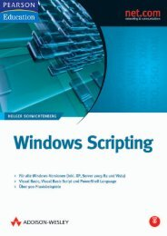 Windows Scripting - *ISBN 978-3-8273-2423-8 ...