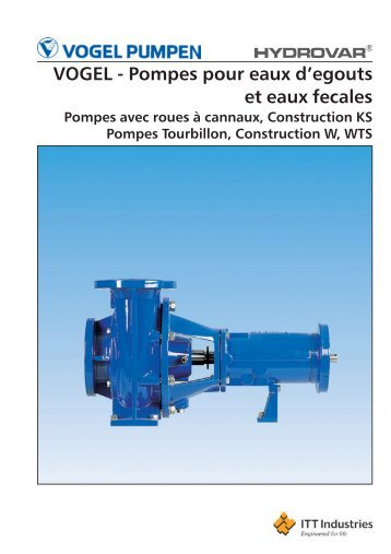 VOGEL - Pompes avec roues à canaux, Construction KS - Lowara