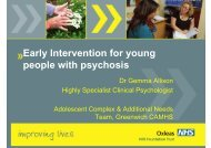 Early Intervention for young people with psychosis - Gemma Allison ...