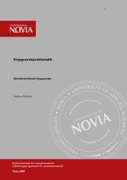 Direktiv för examensarbete - Yrkeshögskolan Novia