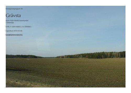 Grävsta detaljplaneprogram - Södertälje kommun