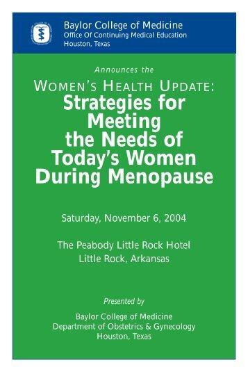 WOMEN'S HEALTH UPDATE - CME Activities