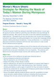 WOMEN'S HEALTH UPDATE - CME Activities - Page 2