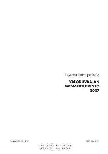Valokuvaajan ammattitutkinto - Opetushallitus