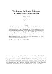 Testing for the Lucas Critique: A Quantitative Investigation - S-WoPEc