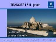 TRANSITS I & II update - Terena